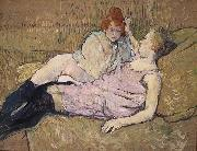 The Sofa Henri de toulouse-lautrec